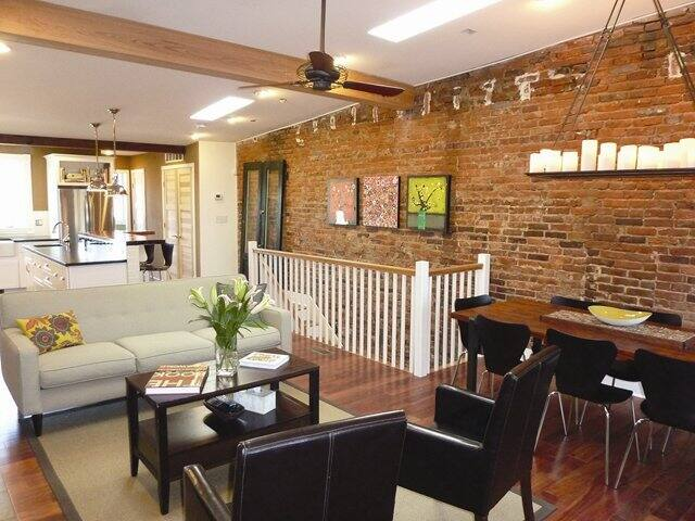 brick wall in renovated home