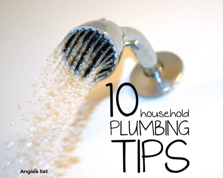 10 household plumbing tips