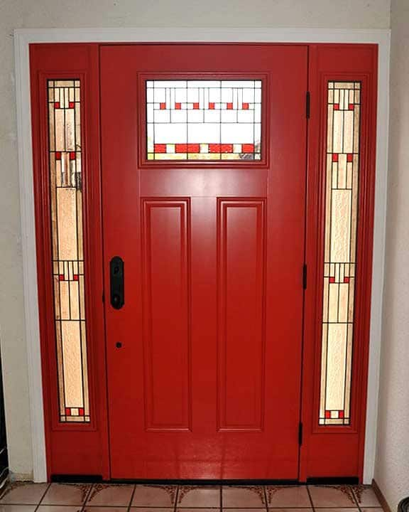 Red Door With Glass : Photos red front doors angie s list