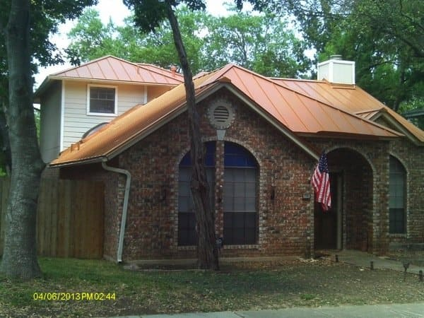 This copper roof protects a north side San Antonio home from storm damage. (Photo courtesy of Ian Seidler)