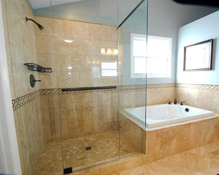 frameless glass shower surround