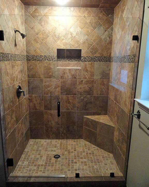 frameless shower converted from tub. This walk-in ...