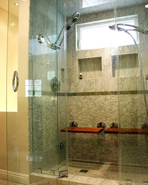 bathroom remodel with heated floor