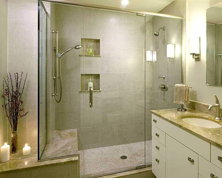 walk in shower with multiple heads Walk In Shower Designs and Remodel Ideas  Angie s List