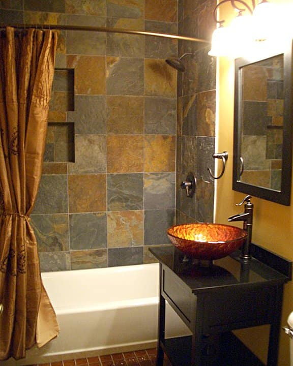Bathroom Remodel With Tile Shower And Floor