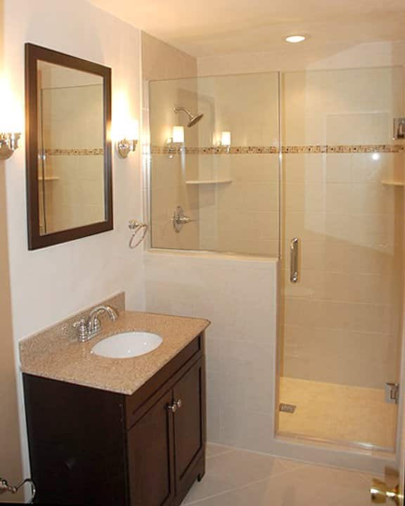 Small bathroom remodel ideas photo gallery angie 39 s list Average cost to remodel a small bathroom