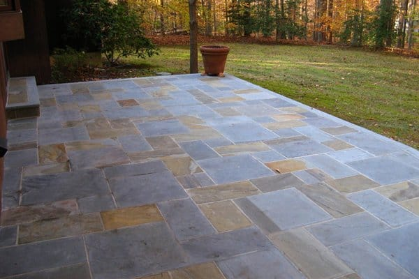 outdoor patio made from stone