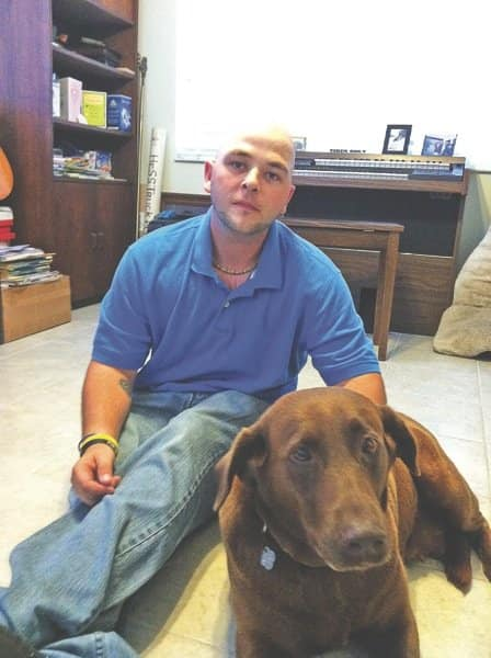 Kevin McFall is one of about a dozen people employed by Donna Brown for housecleaning and animal-sitting services. (Photo courtesy of FairyDust Services)
