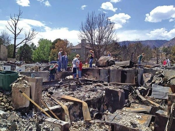 If a wildfire ignites in your area, take steps to protect yourself from harm and your property from damage like that which devastated this home in Colorado Springs, Colo. (Photo courtesy of Angie's List member Carla A. of Colorado Springs, Colo.)