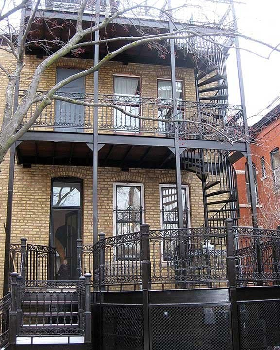 steel and wrought iron deck