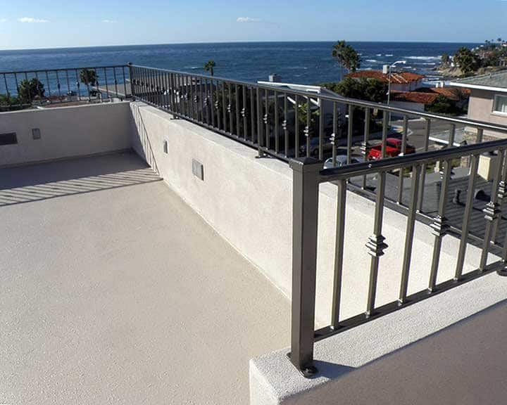 wrought iron balcony with ocean views