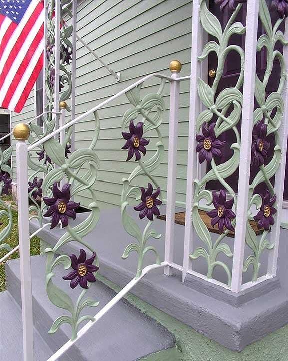 wrought iron porch railings
