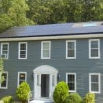 solar panels on home's roof