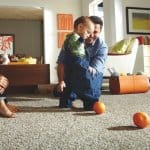 "The latest trend of ""triexta"" carpet, such as Mohawk's SmartStrand Silk, offers built-in soil and stain resistance and a soft surface. (Photo courtesy of Mohawk Flooring)"
