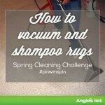 how to vacuum and shampoo rugs