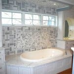 bathroom remodel with Carrara Marble