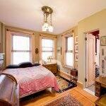 bedroom with vintage interior design