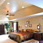 bedroom with interior paint and faux finishes
