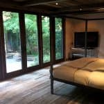 bedroom design will wall of French doors