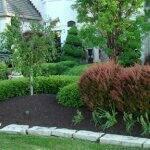 brown landscape mulch
