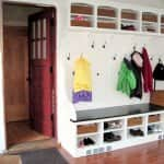 built-in for family mudroom