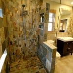 bathroom remodel with ceramic tile