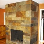 Porcelain Tile Fireplace Overlay