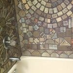 bathroom remodel with ceramic tile shower