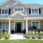 home exterior with front porch and columns