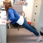 desk push-ups - exercises you can do at your desk at work