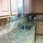 Diagonal tile in kitchen backsplash