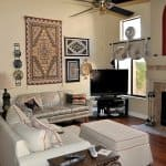 living room design with southwest motif
