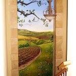 Mural creating window of illusion