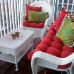 outdoor living space with outdoor futniture