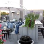rooftop deck with outdoor living area