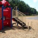 outdoor playground with playfun mulch