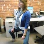 Plié Squats - exercises you can do at your desk at work