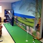 putting green inside home
