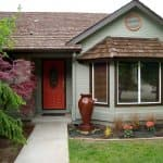house with red front door