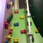 rock climbing wall in the home