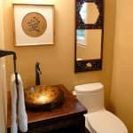 bathroom remodel with vessel sink