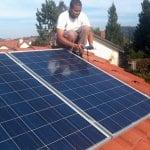 contractors installing solar panel system