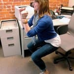 squats - exercises you can do at your desk at work