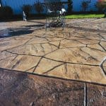 colored and stamped concrete