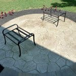 stamped concrete circular patio