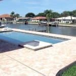 in-ground swimming pool along Intracoastal Waterway