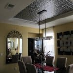 dining room, tray ceiling, tin ceiling