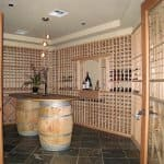 home remodel with wine cellar