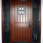 wrought iron sidelights