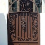 wrought iron gate with custom design